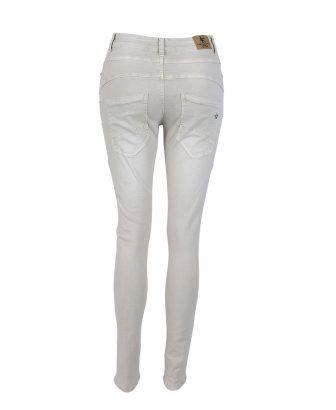 Baggy jeans zandkleurig met strass 2