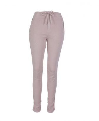 Jogger jeans roze met gouden biesje 1