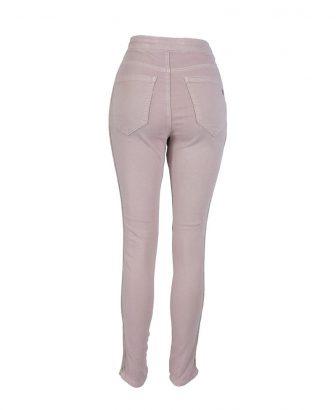 Jogger jeans roze met gouden biesje 2